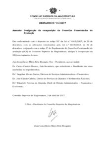 miniatura de DESPACHO 1_2017 – Nova nomeação do CCA