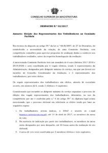 miniatura de DESPACHO 2_2017 – Eleição da Comissão Paritária