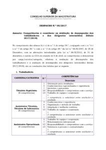 miniatura de DESPACHO 5_2017 – Competências a considerar na avaliação de desempenho 2…