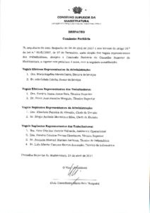 miniatura de Despacho – Constituição da Comissão Paritária