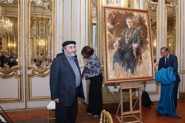 Pintura oferecida ao Conselheiro António Gaspar