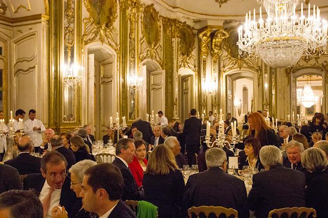 Sala do jantar da homenagem ao Conselheiro Gaspar