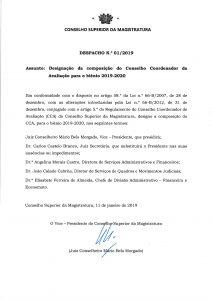 MIniatura de Despacho n.º 1 Composição do CCA 2019-2020