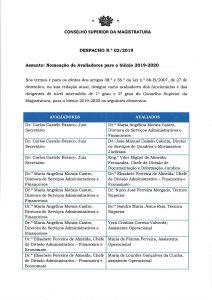 Miniatura Despacho n.º 2 Nomeação de Avaliadores 2019-2020
