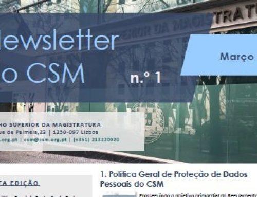 Newsletter n.º 1 do Conselho Superior da Magistratura – Março de 2019