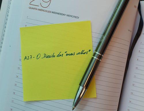 """Formação contínua 2018/19 – Reagendamento de ação de formação  A27 – O Direito dos """"mais velhos"""""""