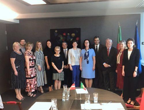 Visita de Delegação da República da Letónia