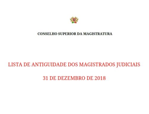 Lista de antiguidade definitiva – 2019