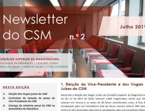 Newsletter n.º 2 do Conselho Superior da Magistratura – Julho de 2019