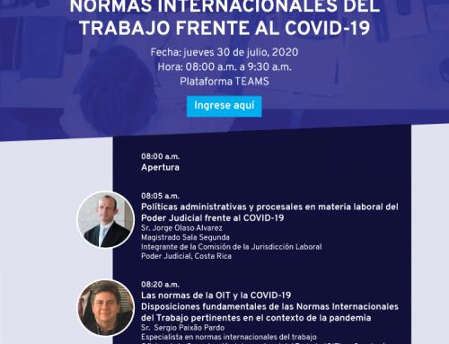 """Conferência """"Normas Internacionales del Trabajo frente al COVID-19"""""""